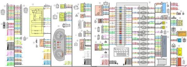 Схема панели приборов Лада Гранта