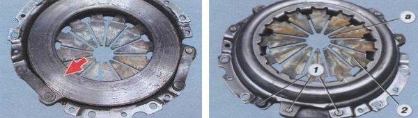 разборка механизма сцепления на автомобиле ваз 2108