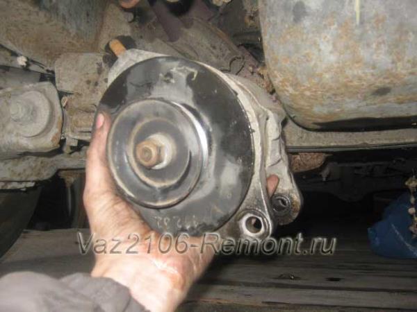 замена генератора на ВАЗ 2106 своими руками