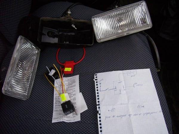 Подробная установка и подключение противотуманных фар на классику ВАЗ