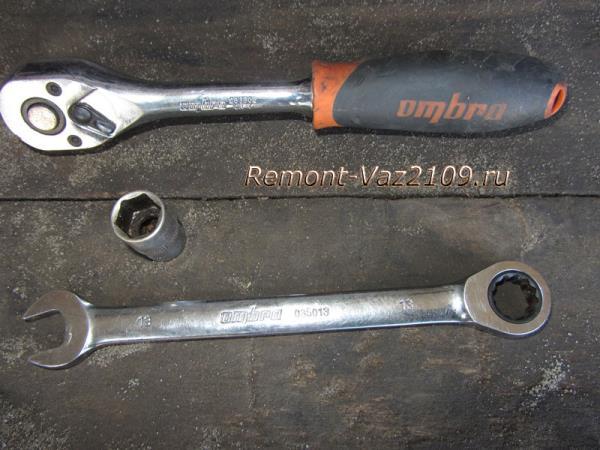 инструмент для замены стартера на ВАЗ 2109-2108