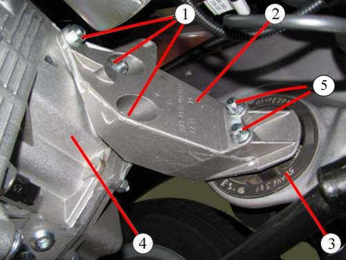 Элементы крепления коробки передач к двигателю и опоре Лада Гранта (ВАЗ 2190)