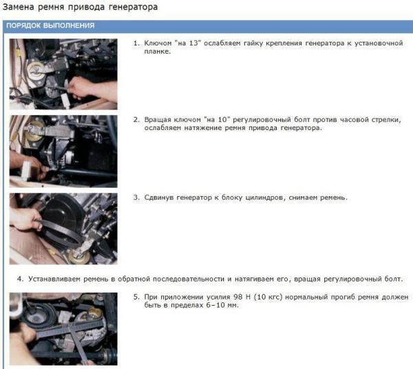 Замена генератора ВАЗ 2113
