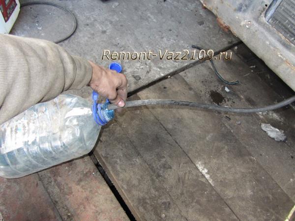 как слить охлаждающую жидкость на ВАЗ 2109-2108