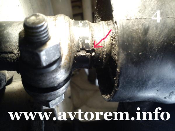 Метка соединения карданчика с тягой управления кпп ваз-2109