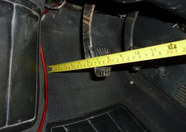 Измерение хода педали