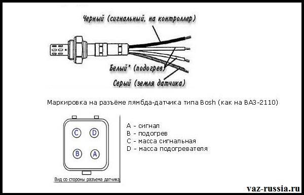 На фото изображены провода которые идут от датчика кислорода
