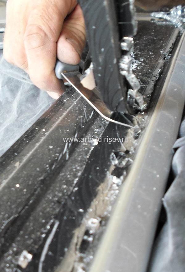 Подготовка к вклеивания заднего стекла форд фокус