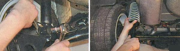 Замена пружин задней подвески Ваз 2170