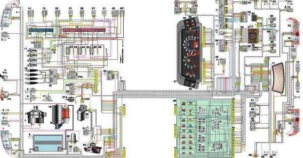 Схема проводки и оборудования 2114