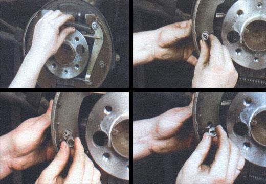 замена задних тормозных колодок автомобиля ваз 2106