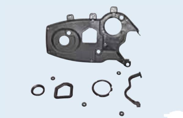 Задняя крышка привода ГРМ с уплотнительными прокладками и втулками крепления к двигателю Лада Гранта (ВАЗ 2190)