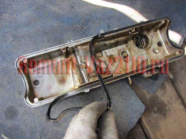 замена прокладки клапанной крышки ВАЗ 21102-112