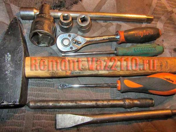 инструмент для замены ШРУСа на ВАЗ 2110-2112