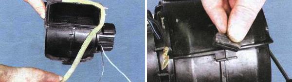 Как разобрать вентилятор отопителя салона ваз 2109
