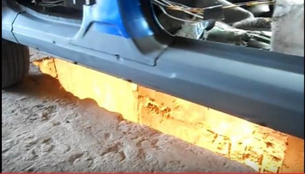 Новый порог ВАЗ 2110 установлен