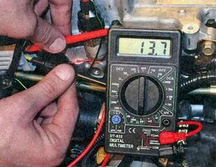 Измерение сопротивления обмоток форсунок через общий разъем управления форсунками Лада Гранта (ВАЗ 2190)