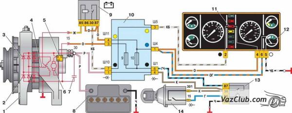 Реле генератора ВАЗ 2107 инжектор цена