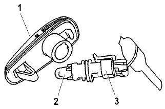 Замена лампы в боковом указателе поворота Лады-Приоры