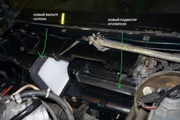 Меняем радиатор печки на ВАЗ 2110