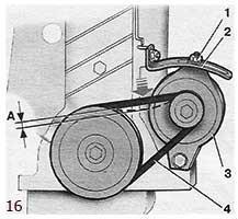Проверка натяжения ремня генератора