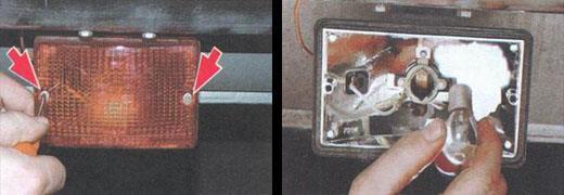 замена ламп заднего противотуманного фонаря ваз 2106