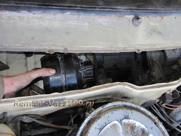 замена вентилятора - моторчика печки на Ваз 2109-2108