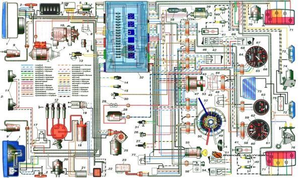 Схема электрооборудования Ваз-2104