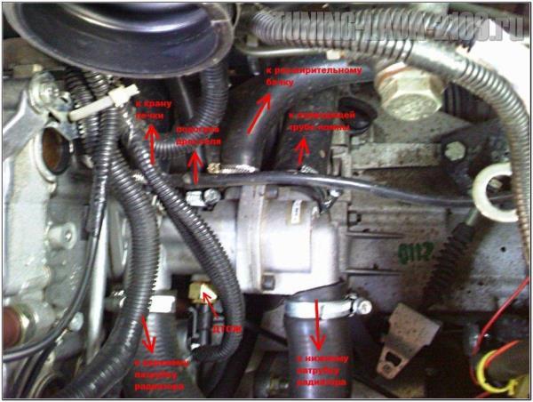 ВАЗ 2115 замена патрубков радиатора печки