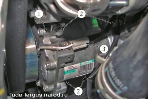 Снятие компрессора Lada Largus