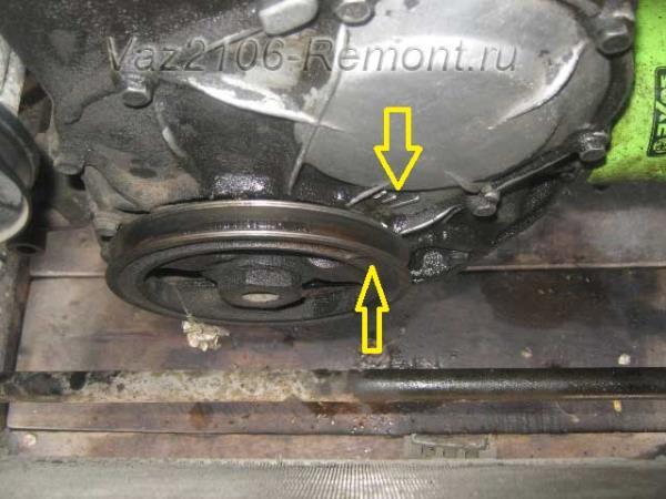совпадение меток коленвала на ВАЗ 2106