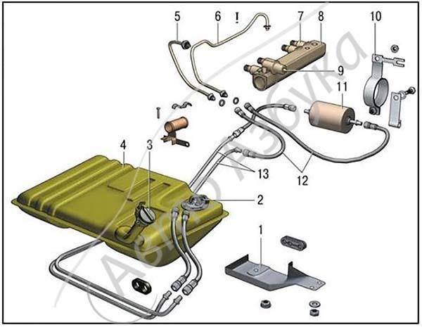 ВАЗ 2111 топливный фильтр