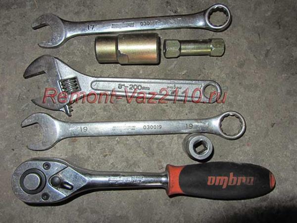 инструмент для замены задних стоек на ВАЗ 2110-2112