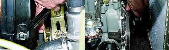 Регулировка ремня привода насоса охлаждения Нива 2121 2131