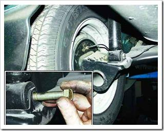Как заменить амортизатор и пружину задней подвески