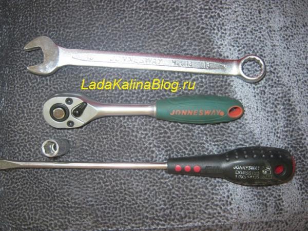 инструмент для снятия щеток с генератора Лады Калины