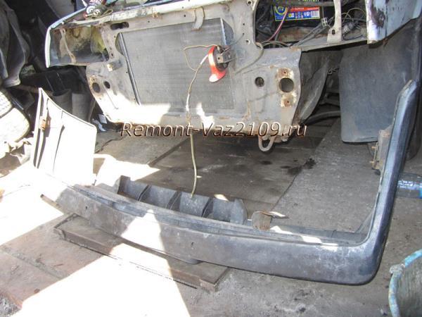как снять передний бампер с ВАЗ 2109-2108
