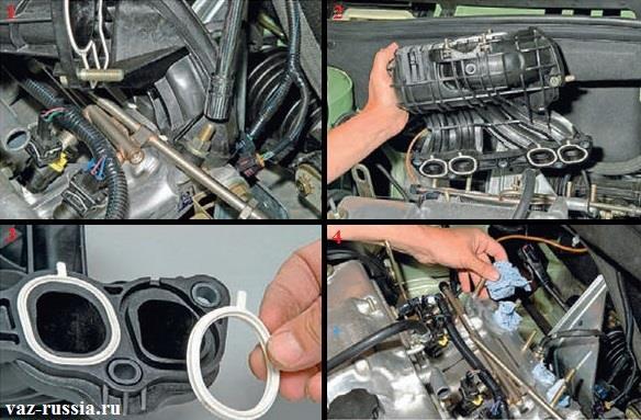 Снятие автомобильного ресивера с автомобиля и замена уплотнительных колец на нём
