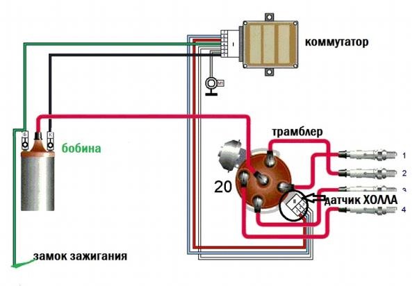 Трамблер ВАЗ 2107 бесконтактный устройство