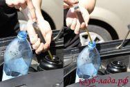Откачиваем масло из бачка ГУР приоры