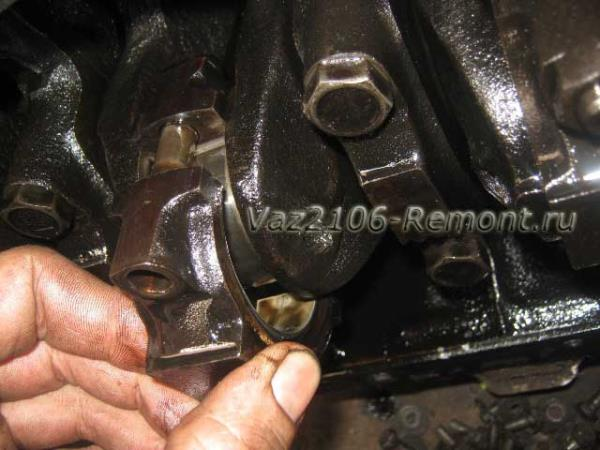 снятие крышки шатуна на ВАЗ 2106
