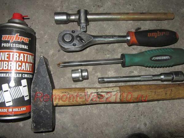 инструменты для замены полуоси задней ступицы на ВАЗ 2110-2112