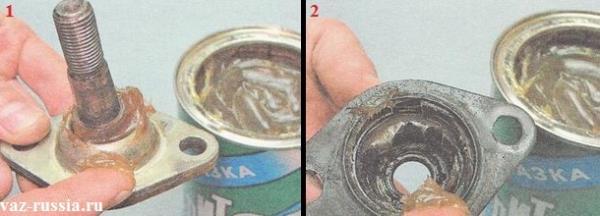 Смазка защитного чехла шаровой опоры и наконечника пальца