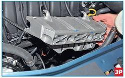 Снятие защиты топливной рампы Lada Largus