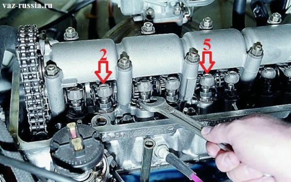 Регулировка 2 и 5 клапана