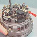 Снятие и замена диодного моста генератора на ВАЗ 2110, 2111, 2112