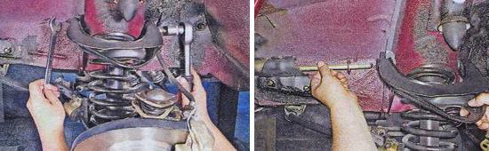 Как снять верхний рычаг передней подвески на автомобиле ваз 2105