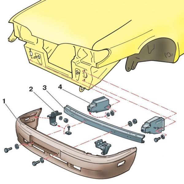 Снятие переднего бампера