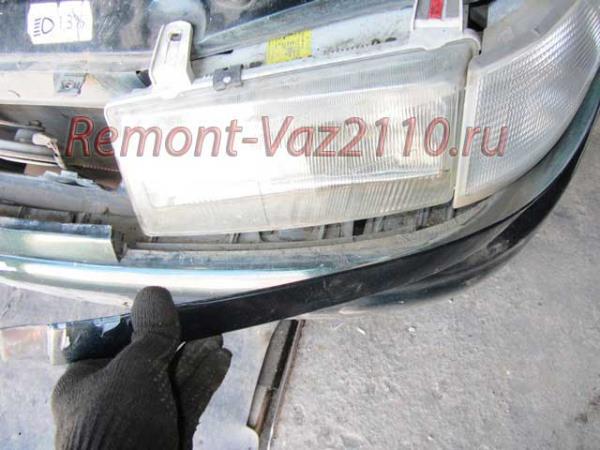 снятие реснички фары ВАЗ 2110