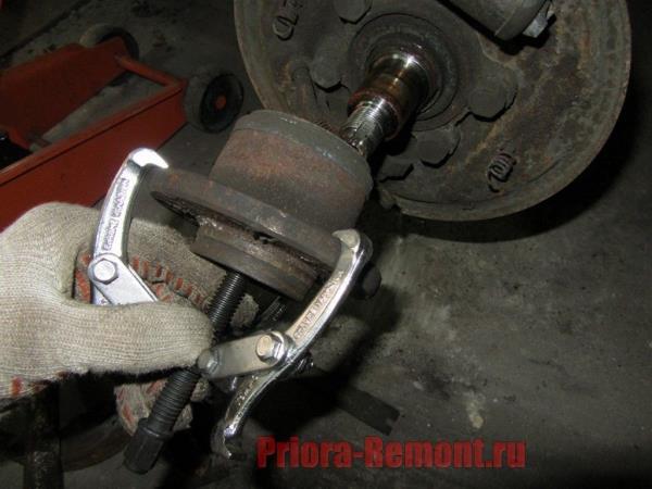 замена ступицы на Приоре